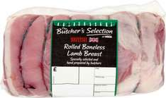 Butcher's Selection Rolled Boneless Lamb Breast by Weight (Typically 600g) was £4.62 now £3.00 = £5.00 / Kg (Rollback Deal) @ Asda