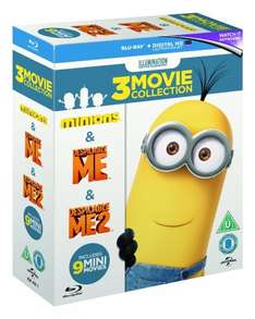 Despicable Me / Despicable Me 2 / Minions BLU RAY with UltraViolet Copy - Zoom + Topcashback £12.75 @ Zoom