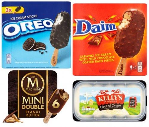3 Pack Daim/Oreos Choc Ices only £1, Kelly Cornish Ice Cream £2.00, 6 Pack Iceland Bubblegum Swirls 50p, 6 Pack Mini Magnum Peanut Butter £1.94 @ Iceland