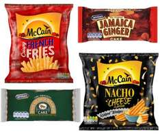 Iceland - McVities Ginger Cake / Lyles Golden Syrup Cake 60p or 2 for £1, McCain French Fries 750g 2 for £2, McCain Nacho Cheese Ridged Wedges 600g £1