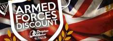Drayton manor free for armed forces and veterans