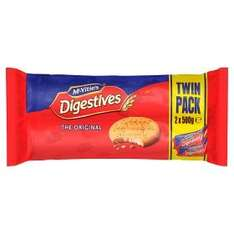 McVitie's Digestives twin pack 500g £1.50 Asda