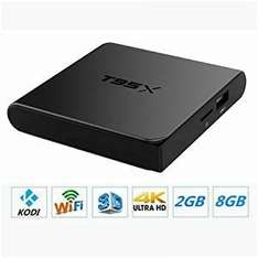 MOBIE T95X Android 6.0 TV Box (2GB+8GB), Fully Loaded KODI, Amlogic S905X Quad Core CPU, 4K Video Media Player, With Remote Control £34.99  WFire Electronics and Fulfilled by Amazon