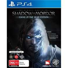 Middle Earth: Shadow Of Mordor Game Of The Year PS4 Game Physical Copy at Ebay/Argos for £15.99