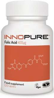 Innopure Folic Acid £3.49 prime / £7.48 non prime Sold by Get Gorgeous! and Fulfilled by Amazon
