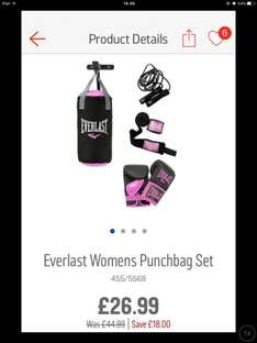 Women's Everlast Punchbag Set Includes All You Need @ Argos for £26.99