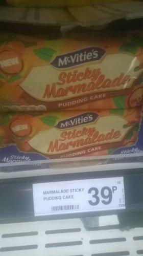 McVitie's NEW Sticky Marmalade Pudding Cake 39p @ Farmfoods