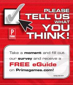 FREE Prima Games eGuide upon completion of survey