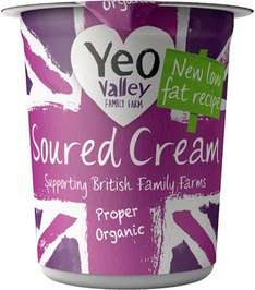 Yeo Valley Low Fat Organic Soured Cream (227ml) was £2.50 now 75p (Rollback Deal) @ Asda