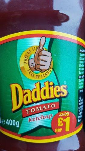 Daddies Tomato Ketchup 400g 25p @ Heron Foods