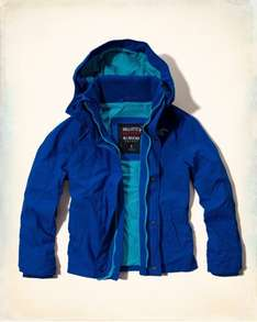 Hollister All-Weather Jacket - Blue - Medium £22.99 with free delivery @ Hollister (HURRY)
