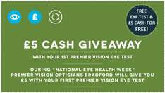 £5 cashback at Premier Vision Opticians (Bradford) (new patients only)