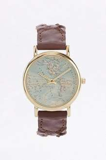 Urban Outfitters Plaited Brown Leather Globe Watch Was £29 Now £4 C&C