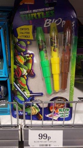 Ninja Turtles Blo Pens 99p in Home Bargains