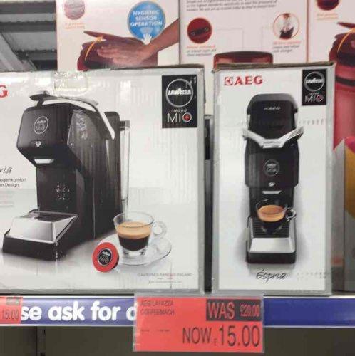 AEG Lavazza Amodo Mio Espresso Machine £15 in B&M Cwmbran