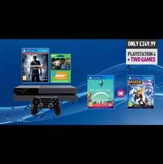 500GB ps4 + uncharted 4 + either no mans sky OR Ratchet & clank + 3 months NOW tv  £249.99 @ GAME instore ONLY