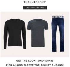 Get the Look for only £19.99 | Pick a Long Sleeve Top, T-Shirt & Jeans at Zavvi