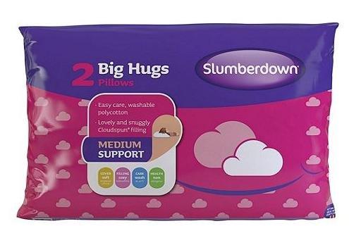 Tesco Direct - 6 Slumberdown Big Hugs Pillows (3x2) - £8 click&collect @Tesco