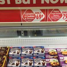 Cornetto Cookies and Dream (4 x 90ml) ONLY 69p Heron in store