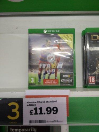 Fifa 16 standard edition on XBOX ONE £11.99  at Sainsbury's Lakeside