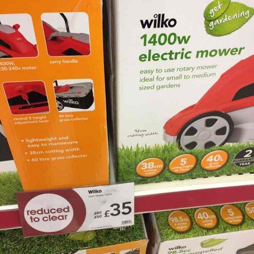 Wilko -  Redditch 1400w lawnmower £35