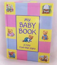 BABY BOOK- A FIRST FIVE YEAR DIARY - FREE P&P £4.35 @ ebay baby outlet
