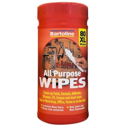Bartoline All Purpose Wipes 80pk £1 @ B&M
