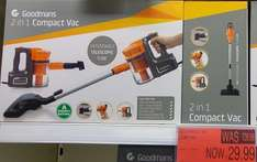 Goodmans 2 in 1 Compact Vacuum Cleaner £29.99 @ B&M