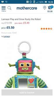 Lamaze Rusty Robot £5.50 @ Mothercare - Preston