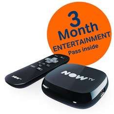 NOW TV 3 MONTHS ENTERTAINMENT Box & Pass £12.85 ShopTo free delivery
