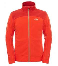 North Face Men's 100 Glacier Full Zip EU Polar Jacket - Red/Fiery Red/Pompeian Red - AMAZON from £19.80