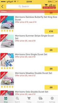 Morrisons duvets starting from £6