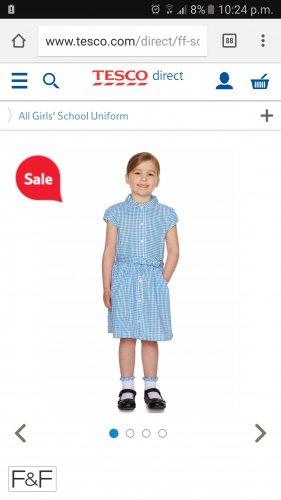 School gingham belted dress & scrunchie £3 @ Tesco