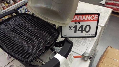 Weber q1000 gas bbq £140 at B&Q