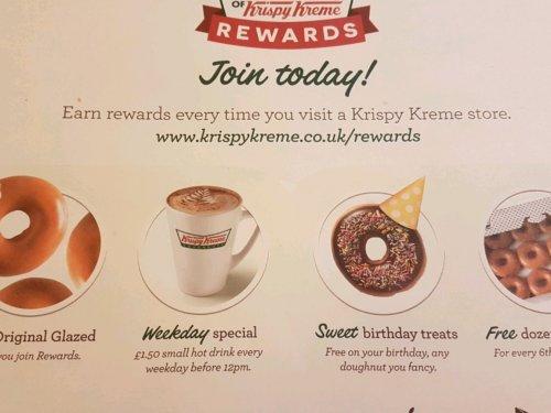 Free doughnut for downloading Krispy Kreme app