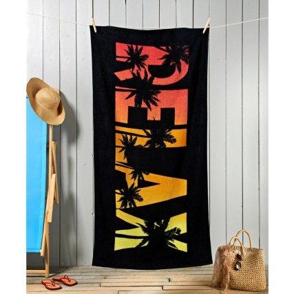 Fashion Slogan Beach Towel - Relax was £4.99 now £2.99 @ B&M