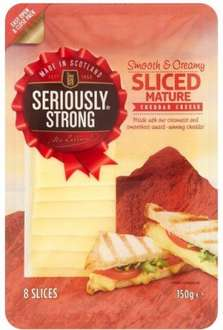 Seriously Strong Sliced Cheddar Cheese (8 Pack = 150g) ONLY £1.00 (6.67 a Kg) @ Morrisons