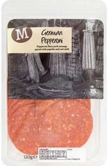 Morrisons German Pepperoni (120g) was £1.20 now 83p @ Morrisons