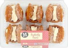 Morrisons Butterfly Buns 6 per pack ONLY £1.00 @ Morrisons