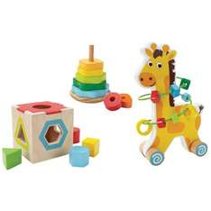 set of 3 wooden toys £12.49 - half price (was £24.99) @ Toys r us - Free c&c