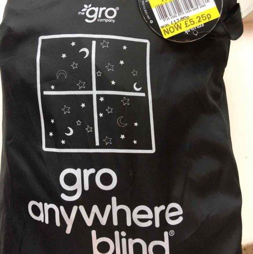 gro anywhere blackout blind £5.25 @ Tesco instore- Spring Hill