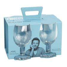 Jamie Oliver  wine glasses.  Four x45cl @ Morrisons  £4.20