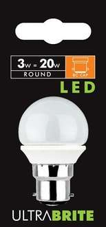 Status B22 3W LED Light Bulb Warm White @ Amazon: Add-on item (Prime)