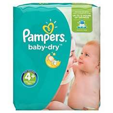 Pampers Baby-Dry Nappies 7p per nappy!- Size 4+,( 9-20 kg) Pack of 152 £10.86 on subscribe & save or £13.57 Prime member exclusive