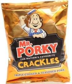 Mr Porky pork scratchings 6 x 18g pack offer was £1.79 now 2 packs for £2