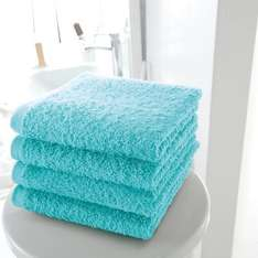 Pack of 4 Cotton Guest Towels (500 g/m²) in White or Turquoise was £12 now £3.60 (with code) Free C+C (Parcelshop) + Free Returns @ La Redoute (Pack of 2 Light Grey 100cm by 50cm Towels was £11 now £3.30)
