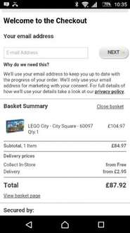 Lego City Square 60097 only £84.97 Asda Online!! Cheapest seen, free c+c