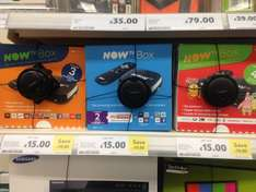Now TV box with entertainment, kids, or movie passes £15 In-Store Tesco Aston, Birmingham