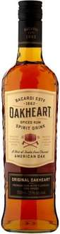 Bacardi Oakheart Spiced Rum (70cl) (35% ABV) was £17.00 now £11.00 @ Morrisons