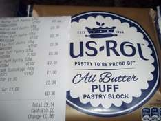 Jus rol all butter puff pastry 3 for £1.00 Heron Foods